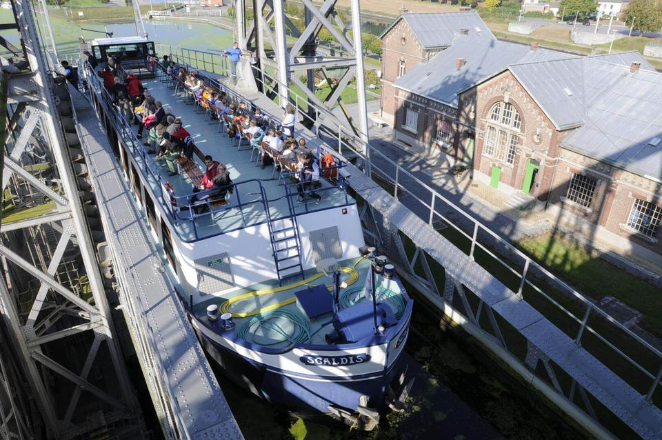 Enjoy a cruise on the historic Canal du Centre