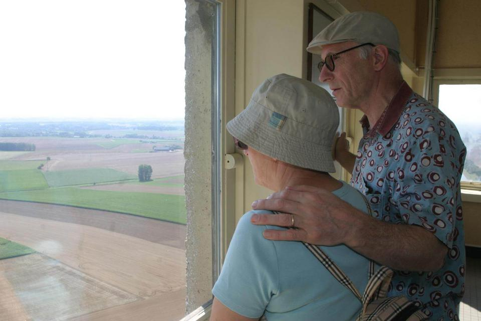 Enjoy the panorama from the tower of the Sloping lock of Ronquières